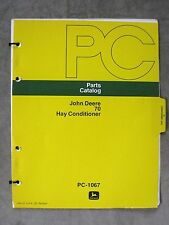 John Deere 70 Series Hay Conditioner Parts Catalog Manual Original
