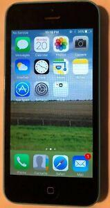 [BROKEN] Apple iPhone 5c 16GB Blue (AT&T) A1532 GSM Repair Crack Glass Lock