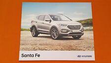 Hyundai Santa Fe Premium SE Endurance car sales brochure catalogue Nov 2017 MINT