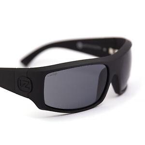 NEW Von Zipper Clutch Black Satin Grey (SMPCLUSIN) Sunglasses