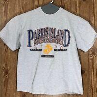 Vintage USMC United States Marine Corps Parris Island South Carolina T-Shirt XL
