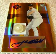 JOSH BECKETT 2005 LEAF LIMITED MONIKERS JERSEY BUTTON AUTO #84 SERIAL #3/4 RARE