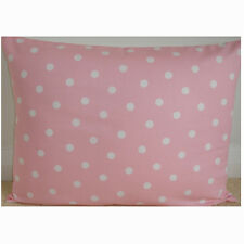 """24""""x16"""" Cushion Cover Baby Pink and White Polka Dots Spots Nursery Pillow 16x24"""