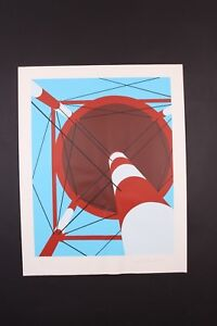 ORIGINAL 1973 ALLAN D'ARCANGELO WATERTOWER SERIGRAPH POP ART PRINT 28/50 SIGNED
