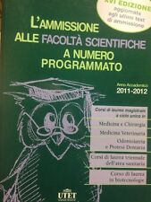 L'ammissione Alle Facoltà Scientifiche A Numero Programmato UTET