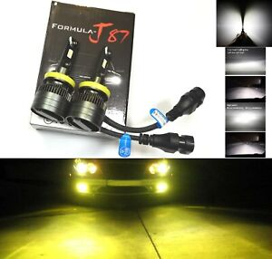 LED Kit G8 100W H11 3000K Yellow Two Bulbs Head Light High Beam Replace Upgrade
