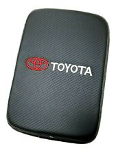 BRAND NEW TOYOTA Carbon Fiber Car Center Console Armrest Cushion Mat Pad Cover