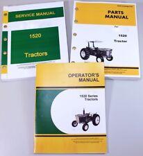 Service Manual Set For John Deere 1520 Tractor Parts Owner Tech Repair Operator