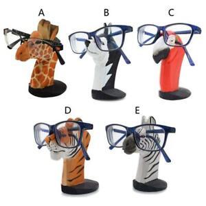 Animal Glasses Rack Hand Carve Wood Eyeglasses Spectacle Sunglasses Holder Stand
