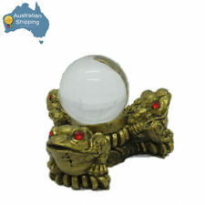 1 x Feng Shui Three Money Frogs with Crystal Ball FREE SHIPPING