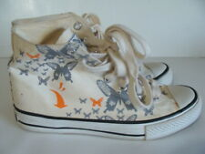 FIFTY24SF Butterfly's Canvas High Top Sneaker Shoes Sz 5.5 mens 7.5 womens