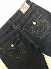 TRUE RELIGION Joey Twisted Stitch Flare Leg Women's Jeans Size 30 X 34
