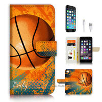( For iPhone 6 / 6S ) Wallet Case Cover P3483 Basket Ball