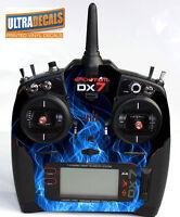 Blue Fire Spektrum DX6 DX7 DX8 Gen 2 Transmitter Radio Skin Wrap Decal Contro...
