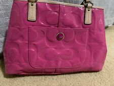 Authentic COACH Patent Leather Signature Tote Bag