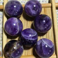 wholesale~ Natural Dream Amethyst Ball Quartz Crystal Mineral Healing 7pcs 110g+