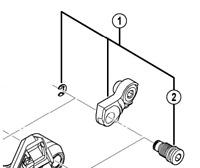 Shimano RD-M981 bracket axle 2
