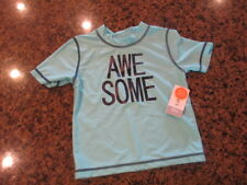 Carter's pull over T-Shirt Boy 24M Blue Awesome short sleeve NWT UPF 50 Athletic