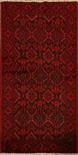 Tribal Geometric Balouch Oriental Area Rug Wool Hand-Knotted Kitchen Carpet 3x6
