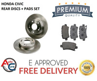 FOR HONDA CIVIC 1.4 1.8 2.2 CDTi REAR DISCS AND PADS 2006-2011 *NEW*