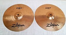 "Zildjian ZBT 14"" Hi Hat Cymbal Set Genuine Turkish Cymbals  USA"