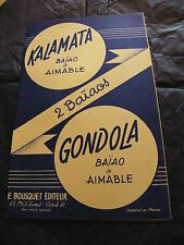Partition Kalamata Aimable Gondola Aimable Baiao 1957