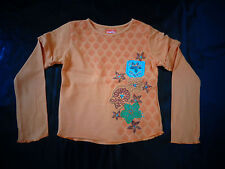 Tee-shirt manches longues orange - Marese - 6 ans TBE