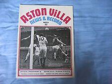 Aston Villa v Oldham Athletic Football League Division 3 1972