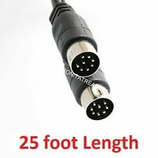 25 Foot Long large 8 pin din Cable for Monster Clarity Model HD One Speakers