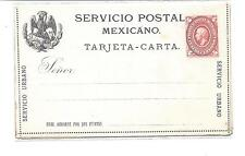 Mexico 4c Postal Stationery Letter Card 1884-1885
