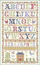Alphabet Sampler - complete cross stitch kit on 14 aida with COLOUR chart