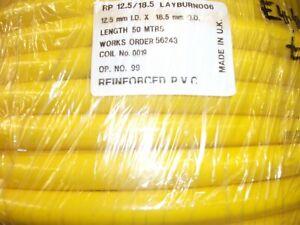 PVC Reinforced Flexible Yellow Hose Length 50M 12.5mm ID x 18.5mm ED