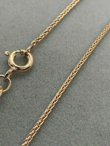 """9ct Rose Red Gold Wheat Round Chain 22"""" / 55cm Neck Chain (436r) *"""