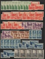 1934 National Parks Sc 740-9 MNH lot of 68 mixed singles CV $68