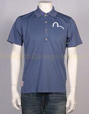 EVISU polo shirt XL blauw NIEUW+LABELS np:€150