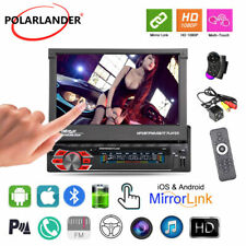 7''1 Din Car Radio iOS Mirror Link Bluetooth Stereo FM Touch Screen +Camera+SWC