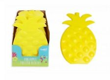 Ice Brick Pack Block Blocks Freezer Cooler Bag BoxTravel Picnic PINEAPPLE YELLOW