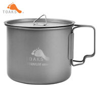 TOAKS Titanium Cup Pot Outdoor Camping Titanium Ti Bowl Cup Mug 550ml Ultralight