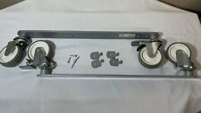 Pair Ikea Kallax 17225 Rails with Caster Wheels - 1 Locking - for Shelving Units