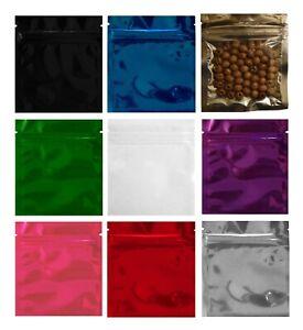 7.5x10cm (3-5g) Mylar Aluminium Foil Zip Lock Heat Seal Smell Proof Bags Baggies