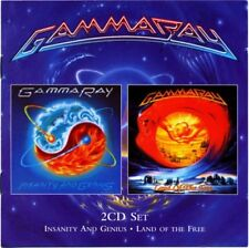 GAMMA RAY - Insanity and Genius/Land of the Free - 2xCD VG