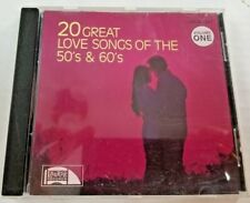 20 Great Love Songs of the 50's and 60's Vol. 1 (CD, 1988, Laurie)