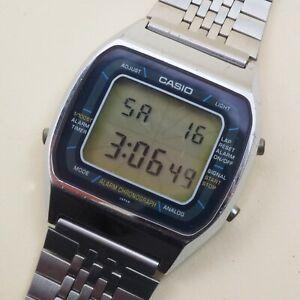Vintage CASIO A201 [103] blue thunder Quartz Men's Watch works