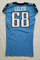 #68 Tim Lelito of Tennessee Titans NFL Locker Room Game Issued Jersey