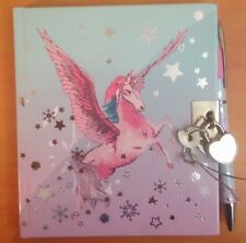 Secret UNICORNO CON SERRATURA notebook e penna (include 2 chiavi) NUOVO #185