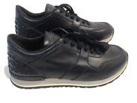 Tod's Mens All Dots Spoiler Matt Full Leather Sneaker Shoes Blue Italy 6 UK 7US
