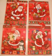 4 x New Stylish Christmas Festive Gift 3 D Xmas Party Wrapping Novelty Bags