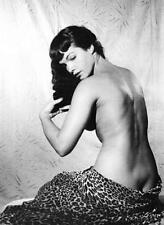 "Bettie Page Vintage Pinup XL CANVAS PRINT 24""X 36"" Black & White photo D"