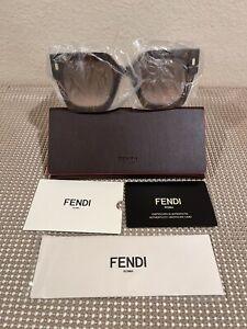 Fendi  Brown Rose Gradient Rectangle Women Sunglasses