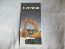 Hyundai Construction Equipment Poster Brochure Excavator Loader Skid Steer
